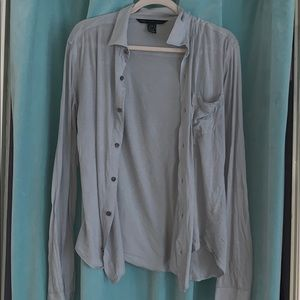 Marc by Marc Jacobs light blue/gray long sleeve